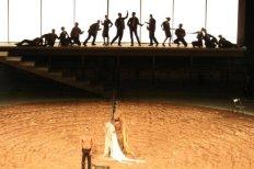 Performing in Alcestis, Epidaurus Ancient Theater 2009