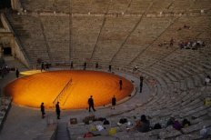 Rehearsing Alcestis, Epidaurus Ancient Theater 2009